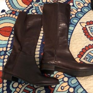 Never Worn genuine leather Nine West boots. 9 1/2.